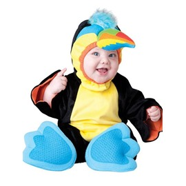 Parrot Shaped Sharp Beak Decoration Polyester Black Baby Costume
