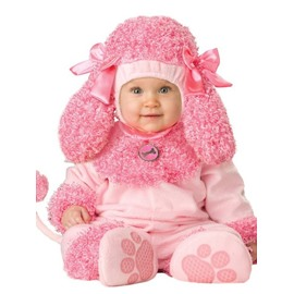 Dog Shaped Bowknots Decoration Polyester Pink Baby Costume