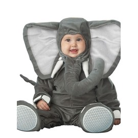 Elephant Shaped Ears Decoration Polyester Gray Baby Costume