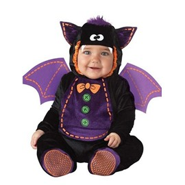 Bat Shaped Swings Decoration Polyester Black and Purple Baby Costume