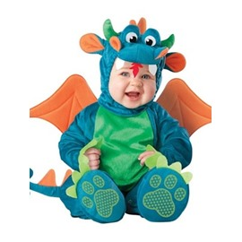 Dinosaur Shaped Swings Decoration Polyester Blue Baby Costume