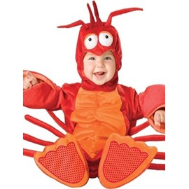 Little Lobster Shaped Polyester Red Baby Costume