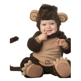 Monkey Shaped Tails Decoration Polyester Dark Gray Baby Costume