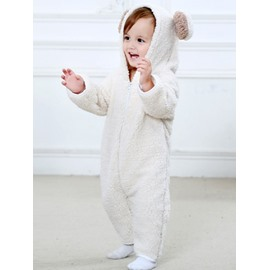 Little Bear Shaped Multi-Color Velvet Baby Jumpsuit