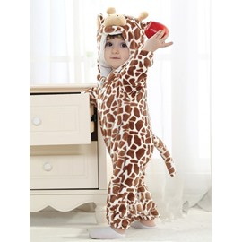 3D Live Little Milk Cow Shaped Brown or Pink Polyester Baby Jumpsuit