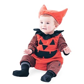 3 Pieces Cute Halloween Pumpkin Cotton Material Baby Costume