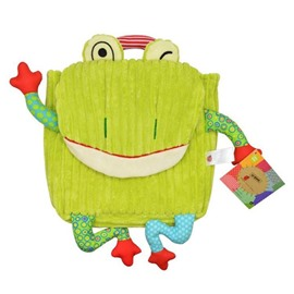 Bright Skip Hop Frog Shaped Little Kids Backpack