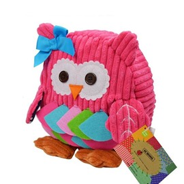 Owl shaped Pink Color Little Kids Backpack