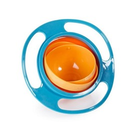 Spill-Proof Gyro PP Blue Kids Feeding Bowl