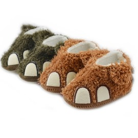 Baby Boys Girls Bear Shape Animal Slipper Crib Shoes