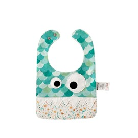 10.23*7.09 in Eyes Decoration Cute Cotton Green Baby Bib