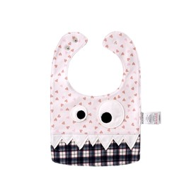 10.23*7.09in Eyes Decoration Cute Cotton Pink Baby Bib