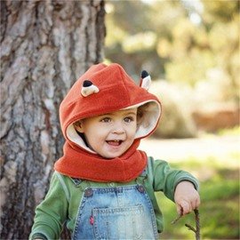 Fox Shaped Fleece Simple Style 1-Piece Kids Hat