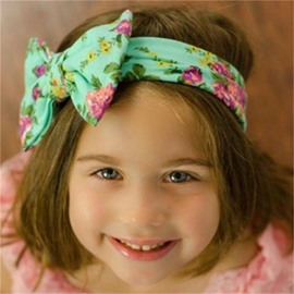 Flowers Printed Bowknots Cotton Simple 1-Piece Multi-Color Hair Band