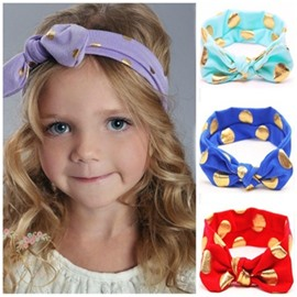 Bowknots Decoration Polka Dots Acrylic Simple Baby Hair Band