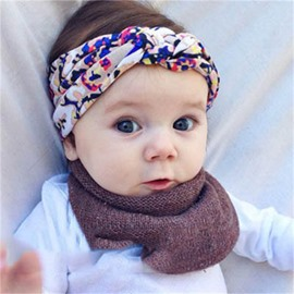 Flowers Printed Cotton Multi-Color Baby Hair Band
