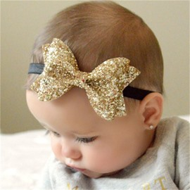 Bowknot Decoration Leather Multi-Color Baby Hair Band