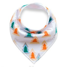 12*12in Colorful Trees Printed Simple Style Cotton Baby Bib