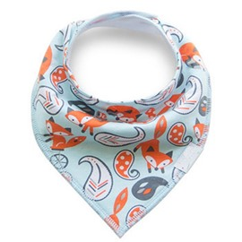 12*12in Fox and Feather Printed Simple Style Cotton Baby Bib