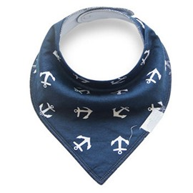 12*12in Anchors Printed Simple Style Cotton Blue Baby Bib