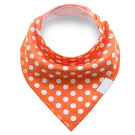 12*12in Polka Dots Pattern Simple Style Cotton Orange Baby Bib