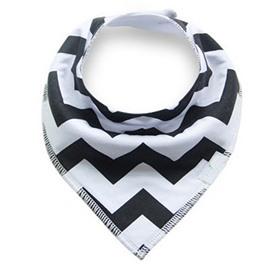 12*12in Black Waves Pattern Simple Style Cotton Baby Bib