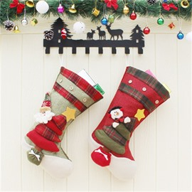 Christmas Tree Decoration Non-Woven Fabric and Wool Christmas Stocking