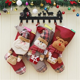 Room Decoration Classic Non-Woven Fabric and Wool Christmas Stocking