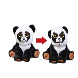 Panda Shaped Mechanical Face Changing Plush Feisty Pet/Toy