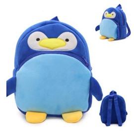 Penguin Shaped Polyester Blue Cute Kids Backpack