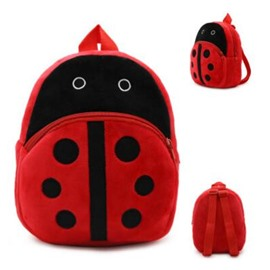 Ladybird Shaped Plush Multi-Color Cute Kids Backpack