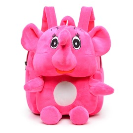 Elephant Shaped Plush Multi-Color Cute Kids Backpack