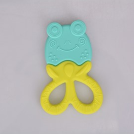 Silicone Frogs Shaped Soothing Baby Teething Toy