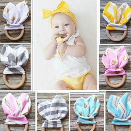 Wooden Wings Shaped Soothing Baby Teething Toy