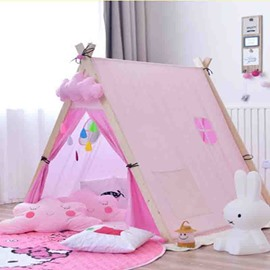 Cotton Cloth Pink Princess Kids Play Indoor Tent