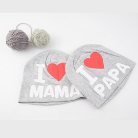 Gray Funny Letter Pattern Cotton Material Baby Hat