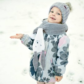 Cute Rabbit Ear 4 Color Acrylic Yarn Knit Warm Keep Kids Scarf