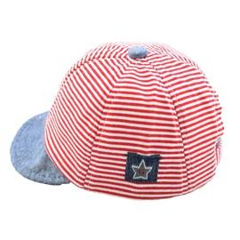 Multi-Color Cotton Material Sunhat Smart Strip Pattern Kids Hat