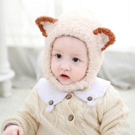 Cute Fox Knitted Brimless Cone Polar Fleece Baby Hat