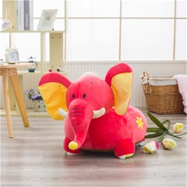 2 Color Funny Elephant Pattern Plush Kids Sofa /Cushion