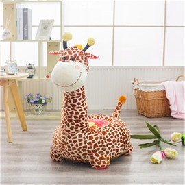 5 Color Funny Giraffe Pattern Plush Kids Sofa /Cushion