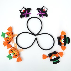 3 Pattern Cute Cartoon Halloween Pattern Kids Hair Clasp