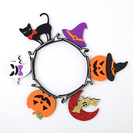 6 Pattern Cute Cartoon Halloween Pattern Kids Bobby Pin