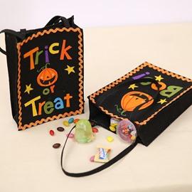 2 Pattern Special Halloween Decor Kids Cartoon Cloth Material Gift Bag