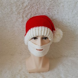 Creative Christmas Woolen Yarn Material Hat With Respirator