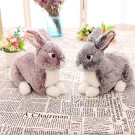 Vivid Emulational Rabblit Shape Soft and Breathable Plush Baby Toy