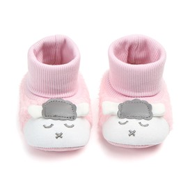 Pink Baby Warm Cotton Anti-Slip First Walkers Shoes