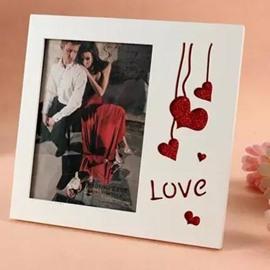 Popular Glitter Heart Shape Desktop Photo Frame