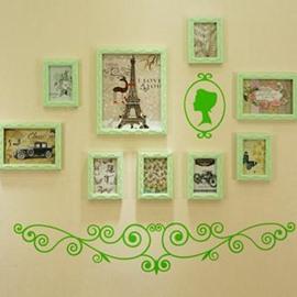 Wonderful 9-Piece Wall Photo Frame Set with Free Wall Stickers