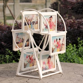Unique Windmill Design 6-Photo Display Photo Stand